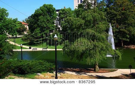 Mirror Lake On The Ohio State Campus