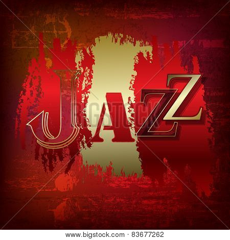Abstract Grunge Background With Word Jazz