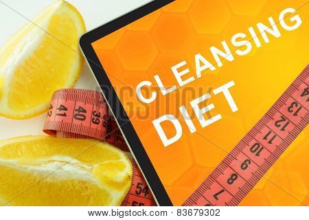 Cleansing  diet on tablet.