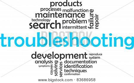 word cloud - troubleshooting