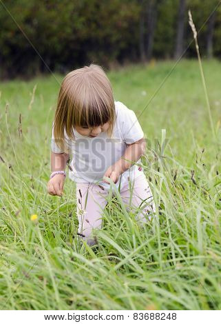 Child In Long Grass