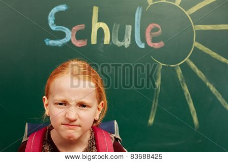 Girl Is Angry About The School
