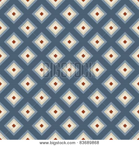 Geometric Seamless Pattern In Retro Style.