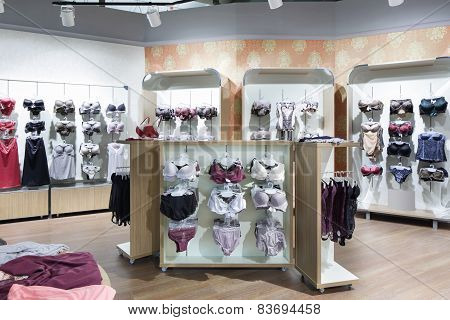 Interior Of Bright Underwear Shop