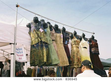 dresses at market