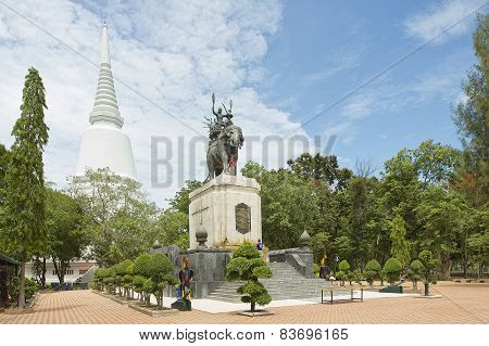 Exterior of the Don Chedi monument in Suphan Buri, Thailand.