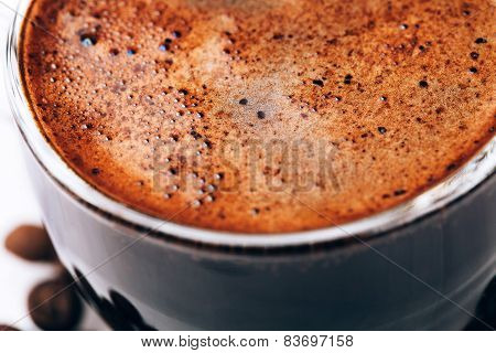Coffee foam macro