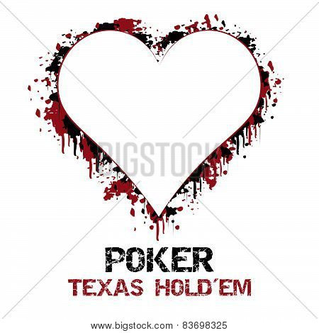 Poker texas holdem vector illustration with grunge effect