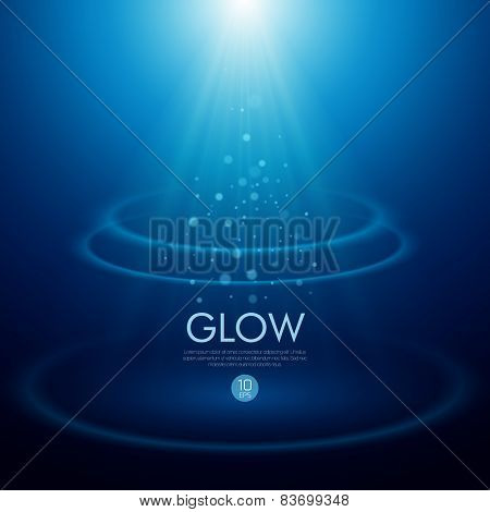 Vector background with a glowing effect