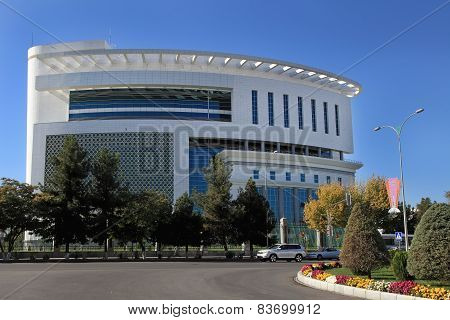 Ashgabat, Turkmenistan - October 23, 2014. The New Medical Center In Ashgabat.