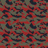 image of camoflage  - Seamless military camouflage texture - JPG