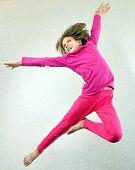 stock photo of sportive  - Portrait of a cute barefoot sportive - JPG