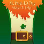 stock photo of leprechaun  - St Patricks Day Leprechaun with text on beard - JPG