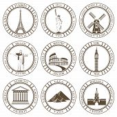 picture of world-famous  - Stickers and icons of travel - JPG