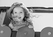 image of playground  - happy child having fun on the playground  - JPG