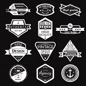 Retro Vintage Logotypes set. poster