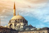 stock photo of constantinople  - Yeni Cami Mosque The New Mosque in Istanbul Turkey - JPG