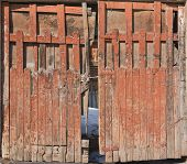 foto of front-entry  - Old wooden backyard door - JPG