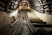 picture of mine  - The coal mine underground tunnels - JPG