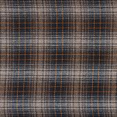 stock photo of fragmentation  - Squared brown cloth fabric fragment as a background texture composition - JPG