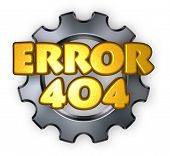 stock photo of not found  - error 404 page not found  - JPG