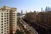 stock photo of dubai  - panoramic views of downtown of dubai city - JPG