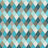 Постер, плакат: Seamless Argyle Pattern