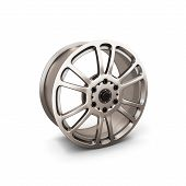 picture of alloys  - Alloy Wheel Rim isolated on white background - JPG
