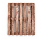 picture of ship  - Old wooden shipping pallet front view isolated on white background - JPG