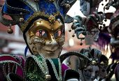 stock photo of venice carnival  - Colorful carnival mask venice at a shop - JPG