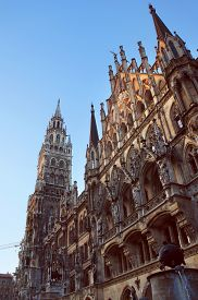 picture of munich residence  - New Town Hall facade in Munich - JPG