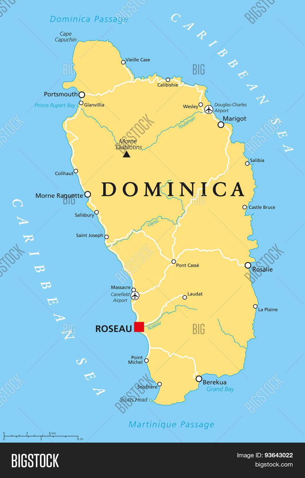 Dominica Political Map Vector Photo Bigstock - Dominica political map
