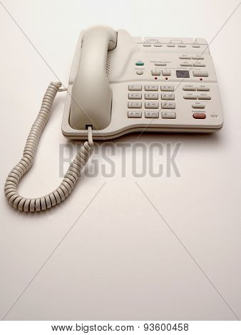 White Office Phone