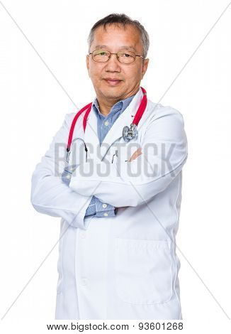 Asian old doctor