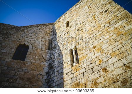 old Spanish fortress castle made of stone