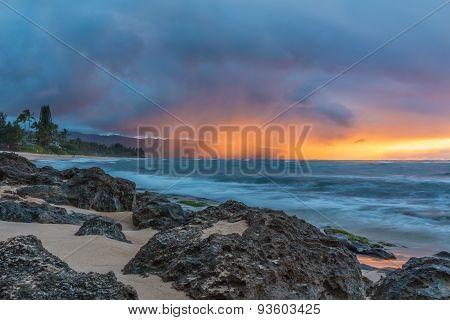 Stunning Sunset In Hawaii