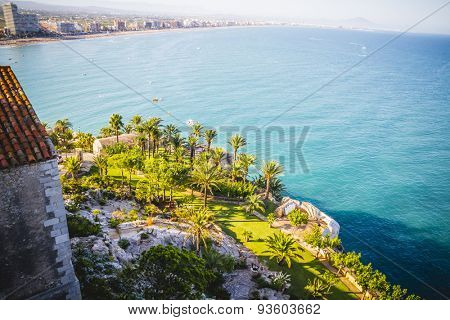 old Spanish fortress castle by the sea