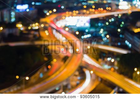 City expressways lights night background