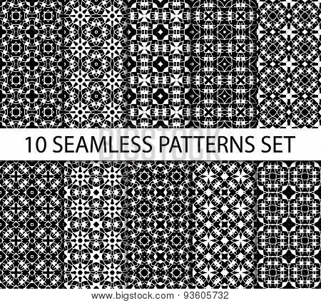 Set of unrepeatable seamless patterns in celtic tradition