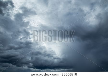 Rainclouds Or Nimbus In Rainy Season