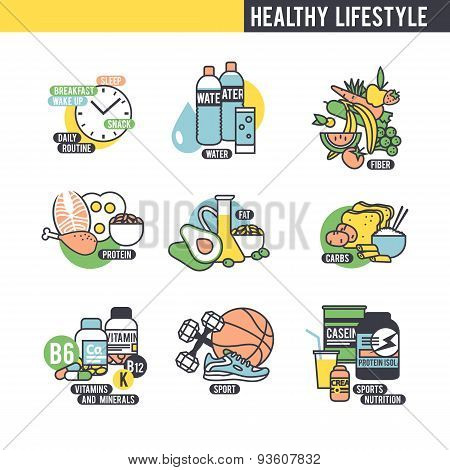 The healthy lifestyle concept.