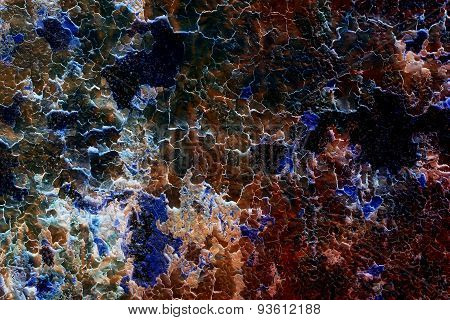 Color Crackle Wall Texture, Color Crackle Background, With Fractal Effect