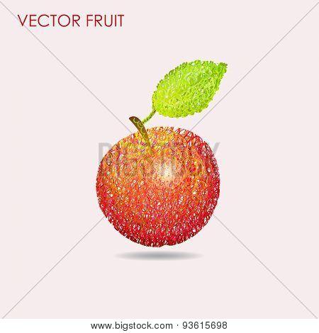 Apple pattern background vector illustration hand drawn