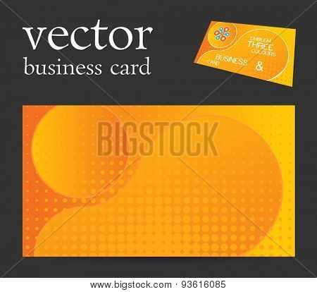 Vector abstract creative business card orange dots