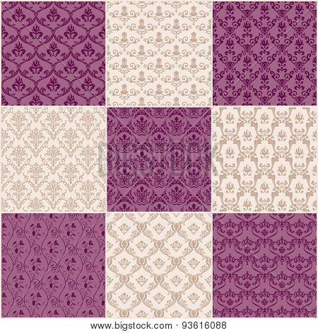 Vector Vintage background. Seamless pattern ornament and decoration design