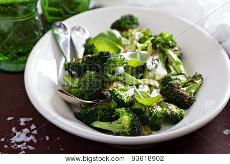 Pan roasted broccoli with garlic