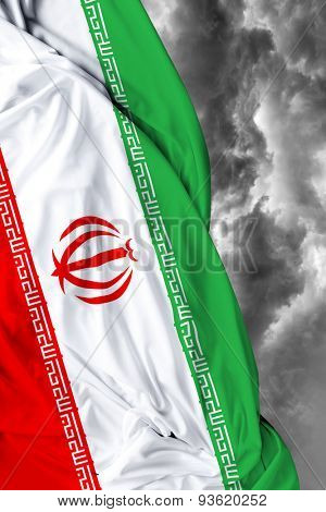 Iranian waving flag on a bad day