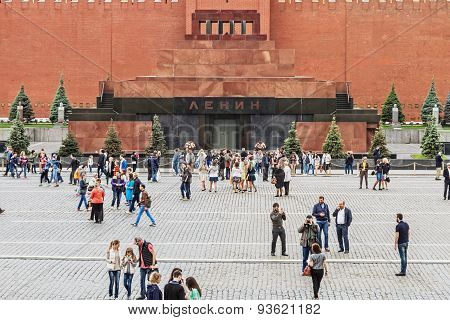 Lenin's Mausoleum On Red Square