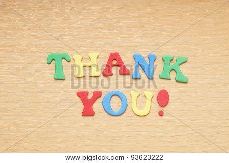 thank you in foam rubber letters