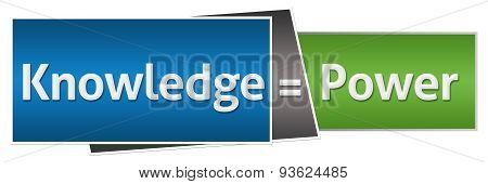 Knowledge Is Power Green Blue Horizontal